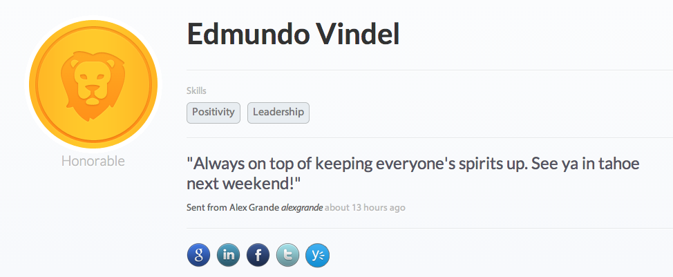 Edmundo Vindel's recognition