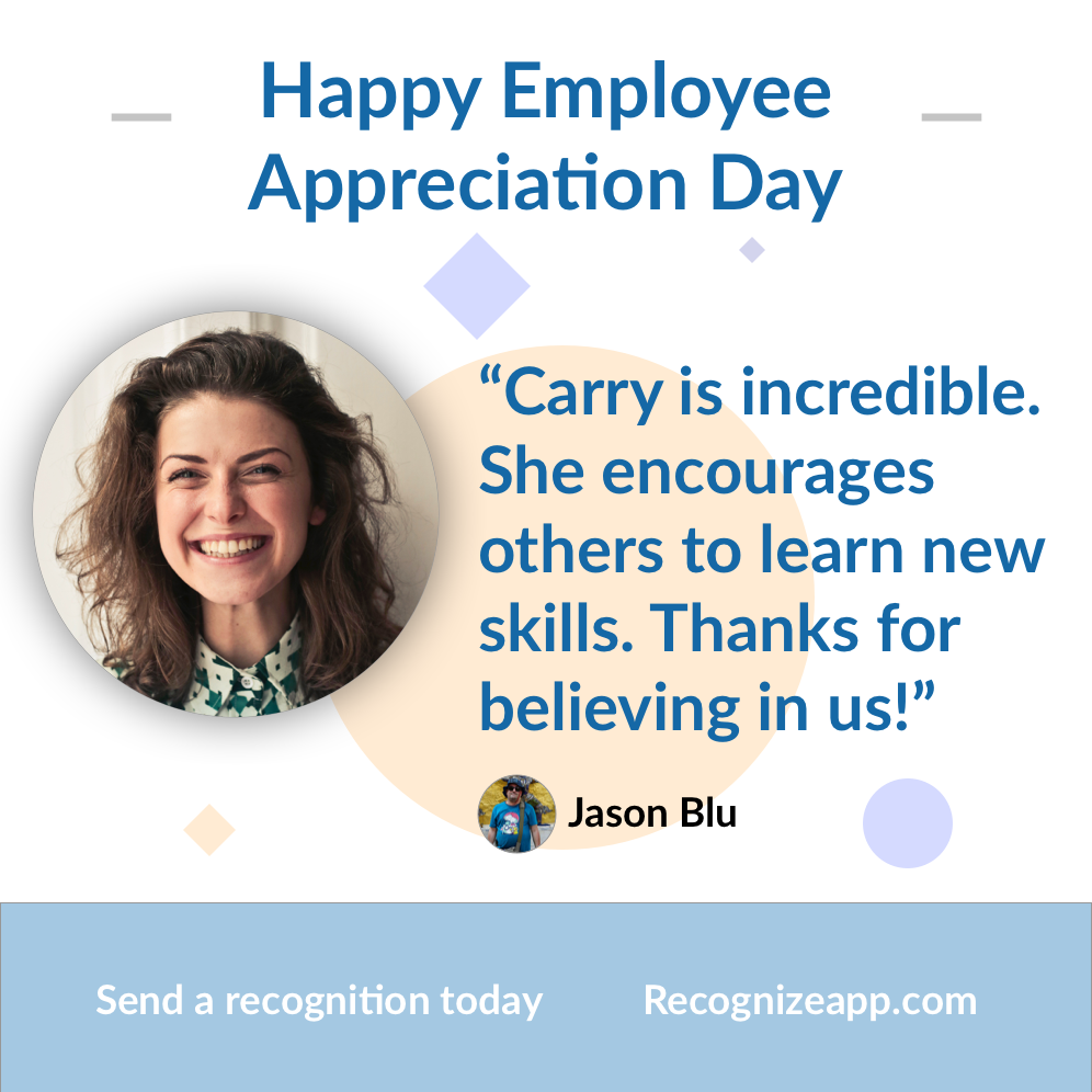 Example of an employee appreciation day poster